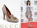 Alexa Chung's Gucci Mischa Suede Double Tassel Pumps
