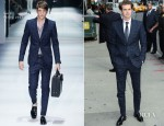 Andrew Garfield In Gucci - Late Show With David Letterman