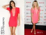 Ashley Tisdale's Brian Lichtenberg Scuba Zipper Dress