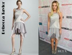 Ashley Tisdale's Rebecca Taylor Mixed Media Flutter Dress