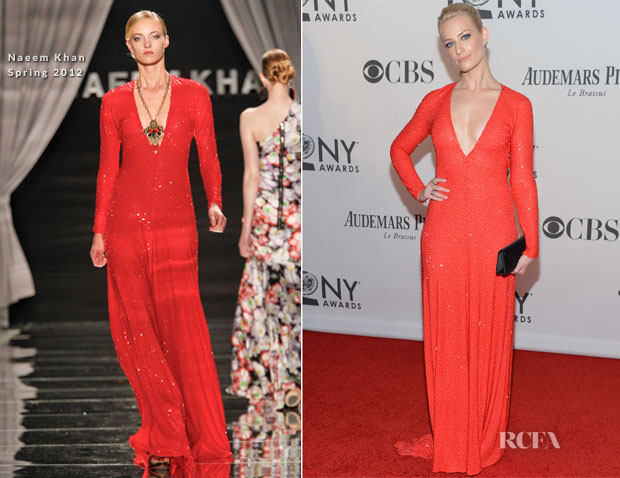 Beth Behrs In Naeem Khan - 2012 Tony Awards