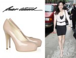 Bethenny Frankel's Brian Atwood Maniac Patent Leather Platform Pumps