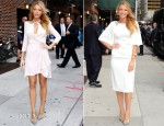 Blake Lively In Jenny Packham & Marchesa - Late Show with David Letterman