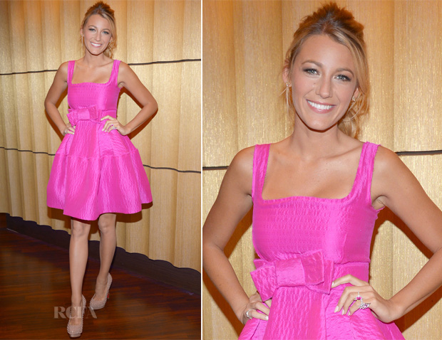 Blake Lively In Lanvin - ABC Studios - Red Carpet Fashion Awards