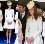 Catherine, Duchess of Cambridge In Alexander McQueen – The Order of the Garter Procession