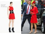 Catherine, Duchess of Cambridge In Alexander McQueen - Diamond Jubilee Thames River Pageant