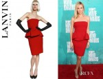 Charlize Theron's Lanvin Sleeveless Ruffled Neoprene Dress