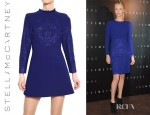 Charlize Theron's Stella McCartney Embossed Double Face Stretch Wool Dress