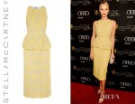 Charlize Theron's Stella McCartney Lace Peplum Dress