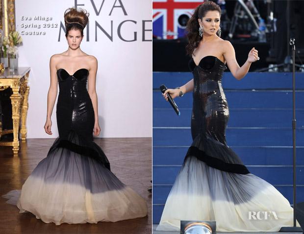Cheryl Cole In Eva Minge - Diamond Jubilee Concert