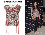Cheryl Cole's Isabel Marant Air Printed Cotton Jersey Sweatshirt