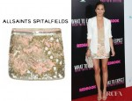 Christine Teigen's All Saints Oyster Skirt