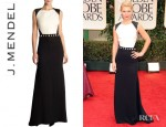 Claire Danes' J.Mendel Sleeveless Open Back Gown