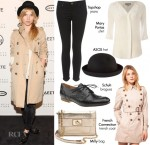 Steal Her Style: Clemence Poesy @ The Opening of the Barneys New York Window Installations
