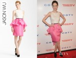 Coco Rocha's Jason Wu Belted Peplum Dress