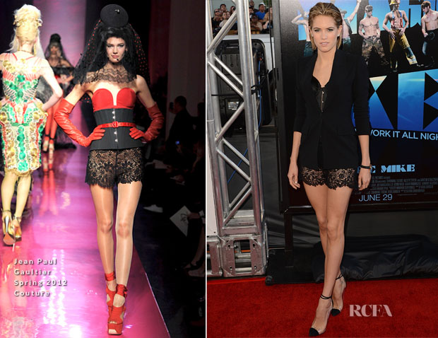 Cody Horn In Jean Paul Gaultier Couture S12 - 'Magic Mike' LA Premiere