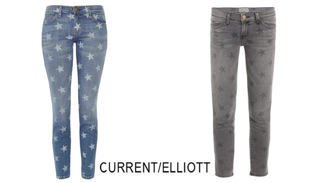 Current Elliott 'The Stiletto' Star Print Jeans