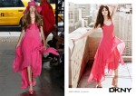 From the Runway, to the BillBoard Ad, to Net-A-Porter, to the Streets of LA - The Journey of Ashley Greene's DKNY Pink Dress