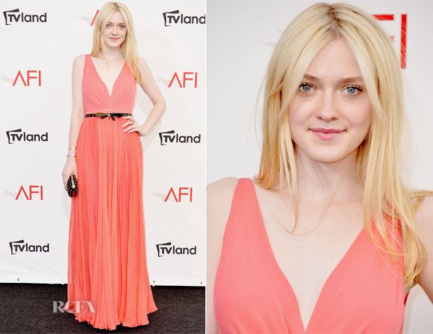 Dakota Fanning In Gucci - 40th AFI Life Achievement Award Honoring Shirley MacLaine