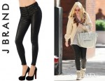 Dakota Fanning's J Brand Leather Skinny Pants