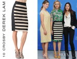 Diane Kruger's 10 Crosby Derek Lam Striped Pencil Skirt