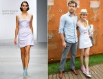 Diane Kruger In Marios Schwab - French Open