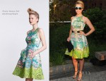 Dianna Agron In Tracy Reese for Anthropologie – Coach's Summer Party on the High Line