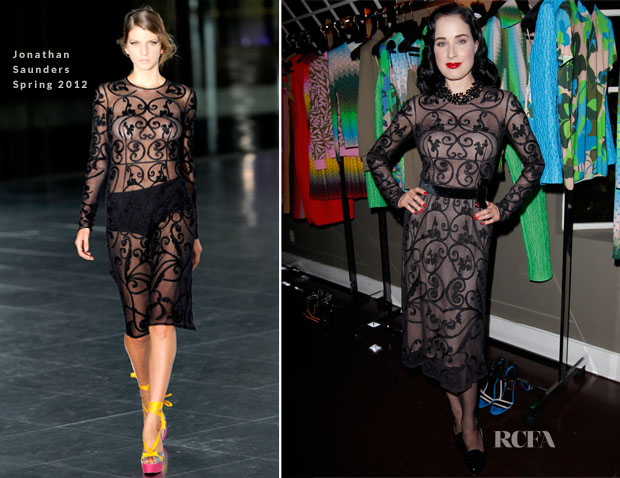 Dita Von Teese In Jonathon Saunders - Jonathon Saunders Resort 2013 Celebration Dinner