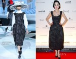 Dita von Teese In Marc Jacobs - amfAR Inspiration Night Paris