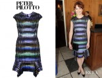 Ellie Kemper's Peter Pilotto Pek Printed Silk Satin Dress