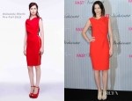Emily Blunt In Roksanda Ilincic - 'The Five-Year Engagement' Germany Photocall