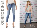 Emma Roberts' Genetic Denim Raquel Crop Cigarette Jeans