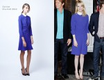 Emma Stone In Carven - 'The Amazing Spider-Man' Cast Visit The Empire State Building