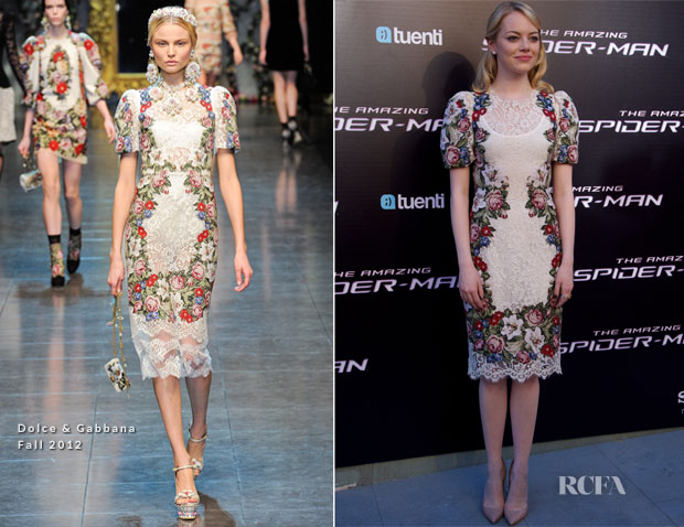 Emma Stone In Dolce & Gabbana - 'The Amazing Spider-Man' Madrid Premiere