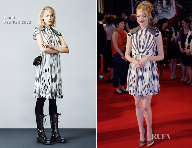 Emma Stone In Fendi - 'The Amazing Spider-Man' South Korea Premiere