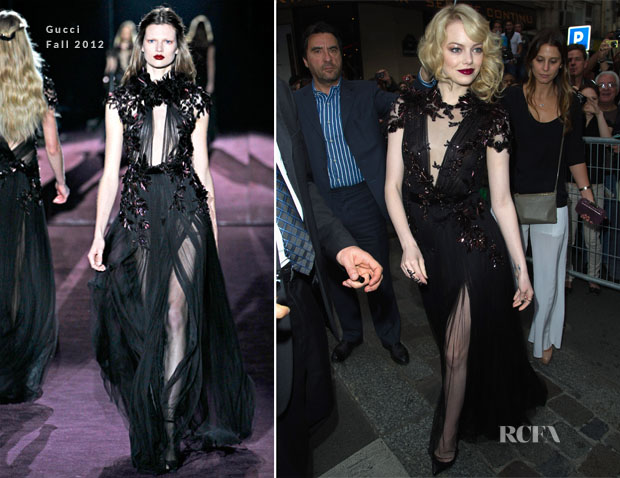 Emma Stone In Gucci - 'The Amazing Spider Man' Paris Premiere