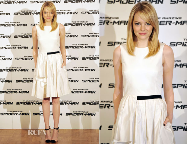 Emma Stone In Jason Wu - 'The Amazing Spider-Man' Rome Photocall