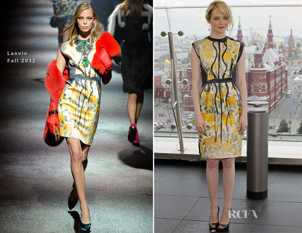 Emma Stone In Lanvin - 'The Amazing Spider-Man' Moscow Photocall