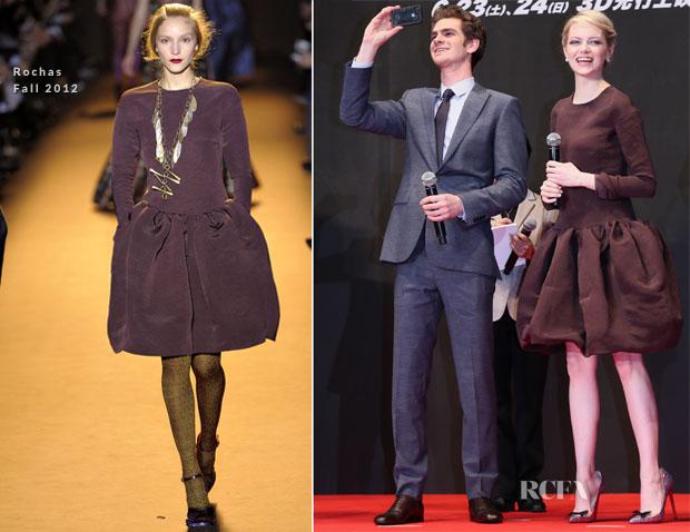 Emma Stone In Rochas - 'The Amazing Spider-Man' Tokyo Premiere