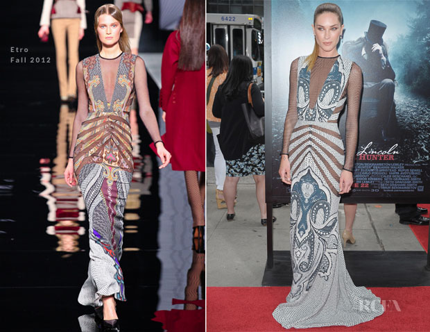 Erin Wasson In Etro - 'Abraham Lincoln Vampire Hunter' New York Premiere