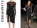 Eva Longoria's Emilio Pucci Georgette Wool Dress