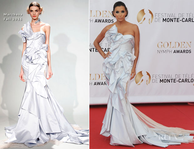 Eva Longoria In Marchesa - 52nd Monte Carlo TV Festival Closing Ceremony