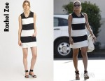 Eva Mendes' Rachel Zoe Madison Colorblock Shift Dress
