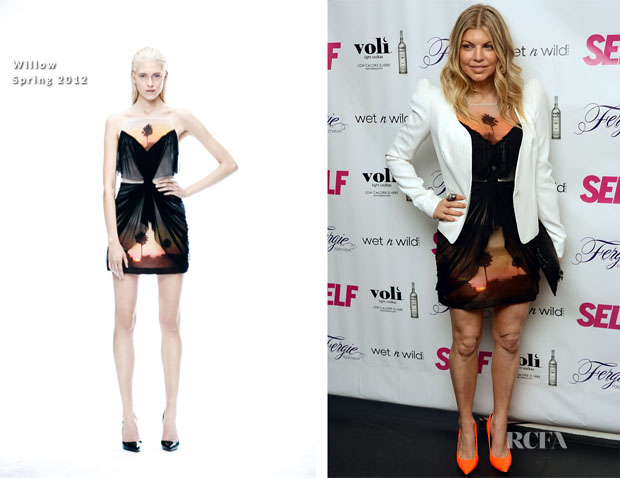 Fergie In Willow & Thierry Mugler - Self Magazine's July 2012 Issue Launch Party