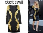 Fergie's Roberto Cavalli Printed Stretch Silk Dress