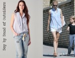 Gwyneth Paltrow's Boy by Band of Outsiders Tie Neck Sleeveless Top