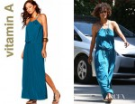Halle Berry's Vitamin A Gold Bianca Maxi Dress