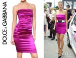 Heidi Klum's Dolce & Gabbana Stretch Silk Satin Dress