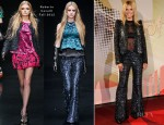 Heidi Klum In Roberto Cavalli - Germany's Next Topmodel Finalists Photocall