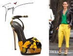 Jada Pinkett-Smith's Giuseppe Zanotti Floral Shoes